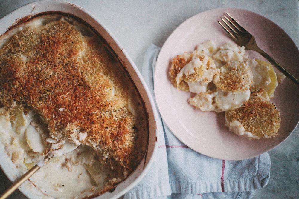 Crispy Potatoes Au Gratin - Tastemaker Blog