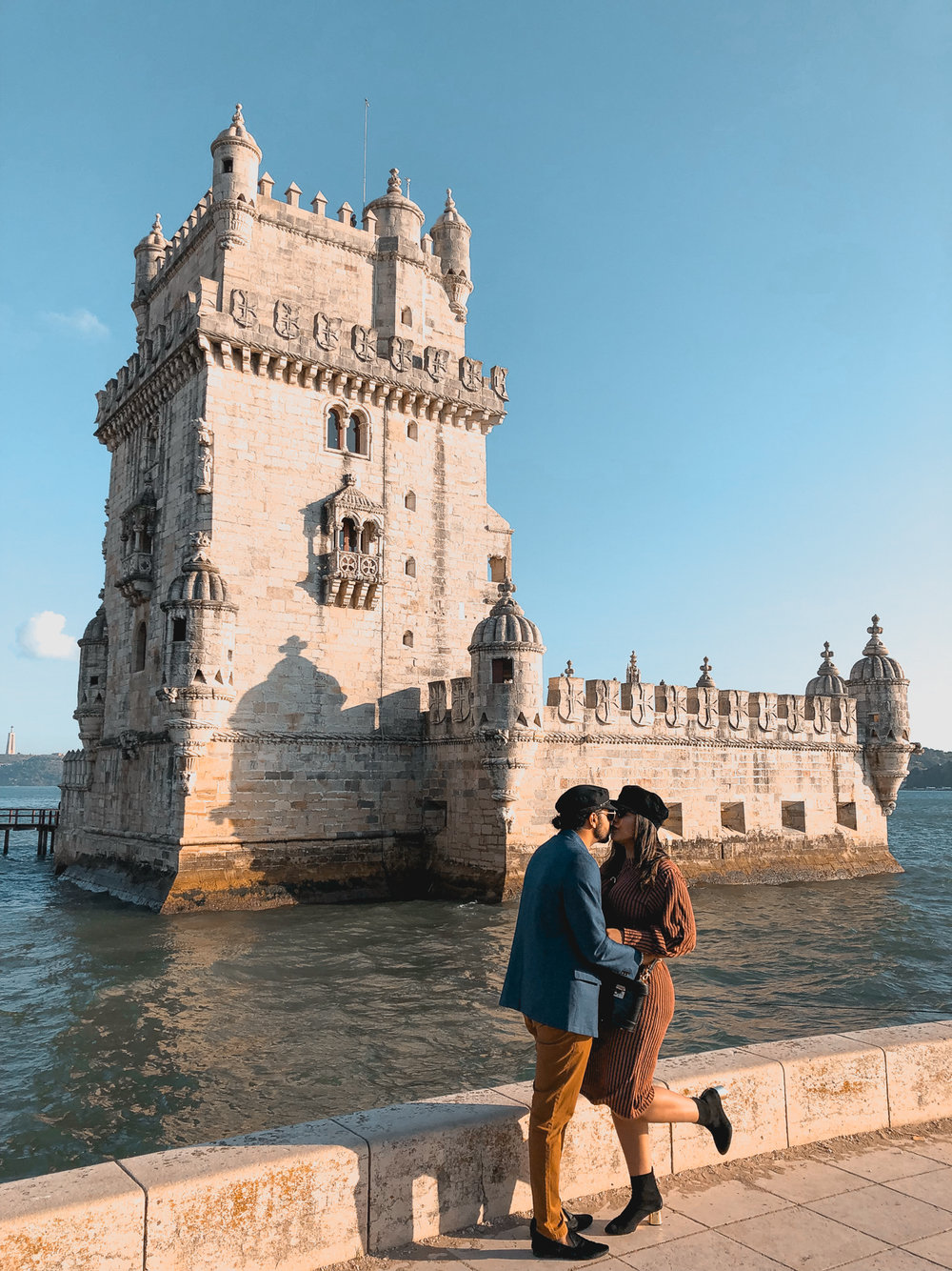 Kissing at the Belem Tower