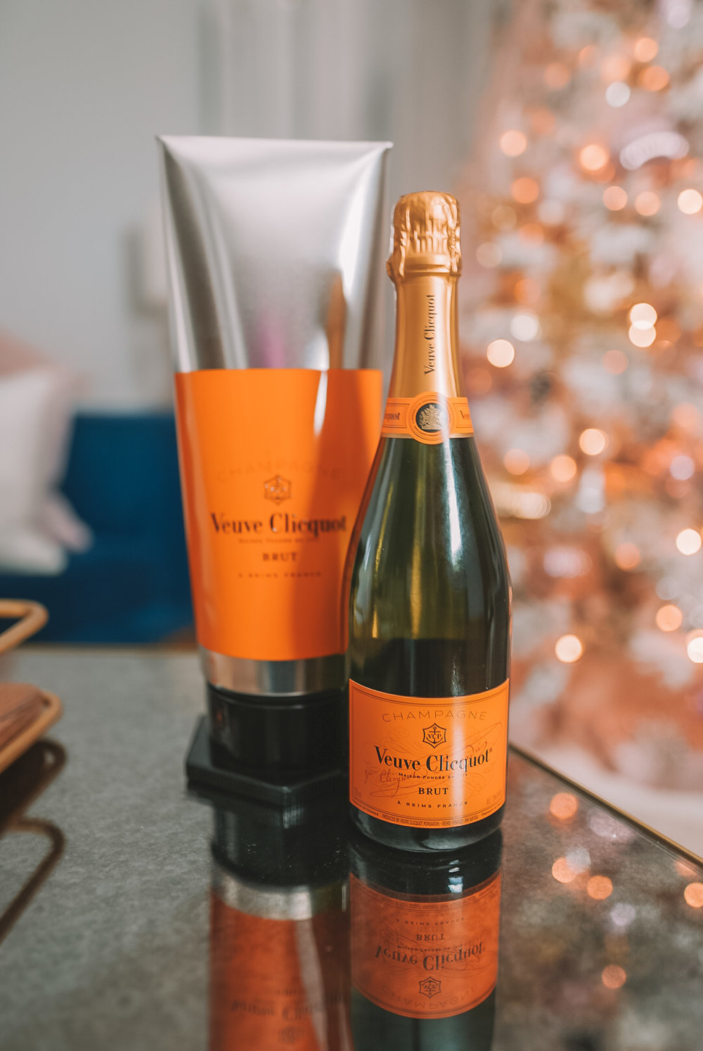 Veuve Clicquot - Ain't no party like a Champaign party! This is a luxury Champaign and one of my absolute favorites, if not the favorite. This Champaign brings a feel of luxurious finesse to your holiday party, and it tastes like a celebration!