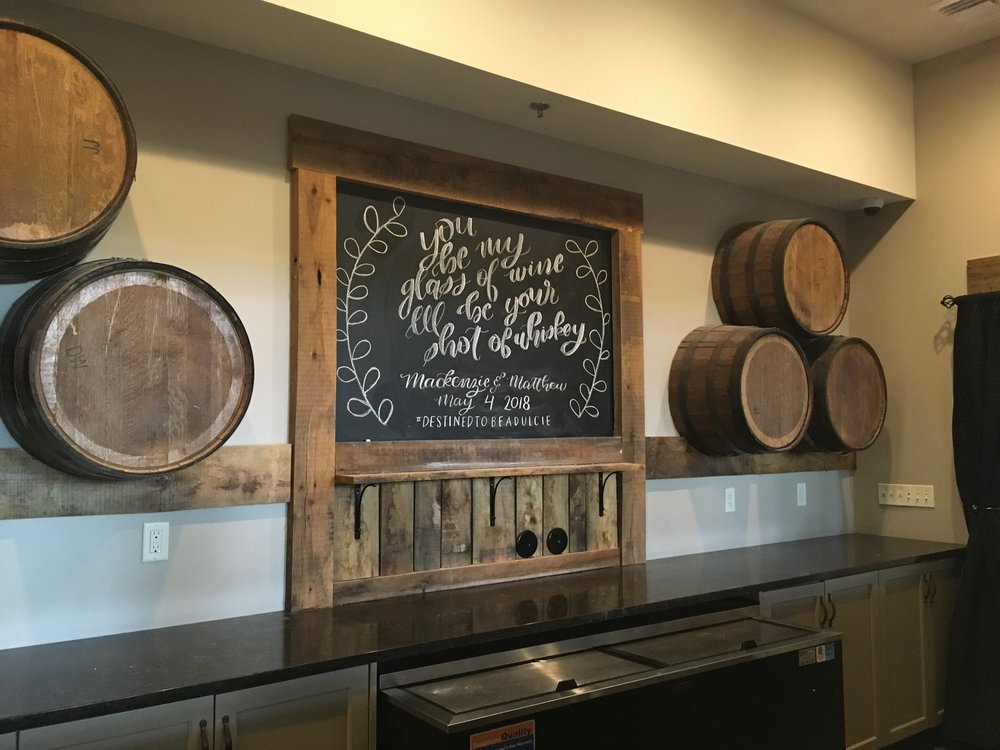 venue chalkboard - A sweet and personalized custom chalkboard at Silver Oaks Chateau.
