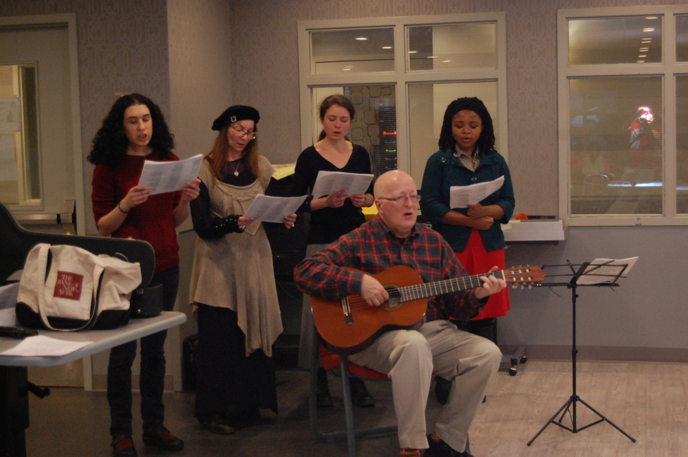 St. George's Choral Society members singing at Brooklyn's Hopkins Center for Rehabilitation & Healthcare. Photo: Pawel Goralczyk.