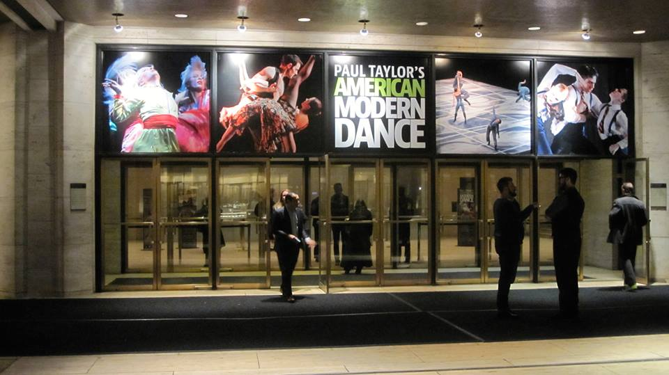 Outside the David H. Koch Theater at Lincoln Center after a 2015 performance with Paul Taylor's American Modern Dance. Photo: Johanna Goldberg