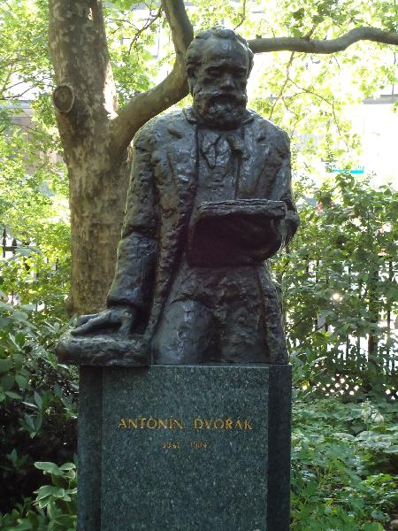 Dvorak statue by Ivan Mestrovic (1883–1962) in Stuvesant Square. Courtesy of the New York City Department of Parks & Recreation.