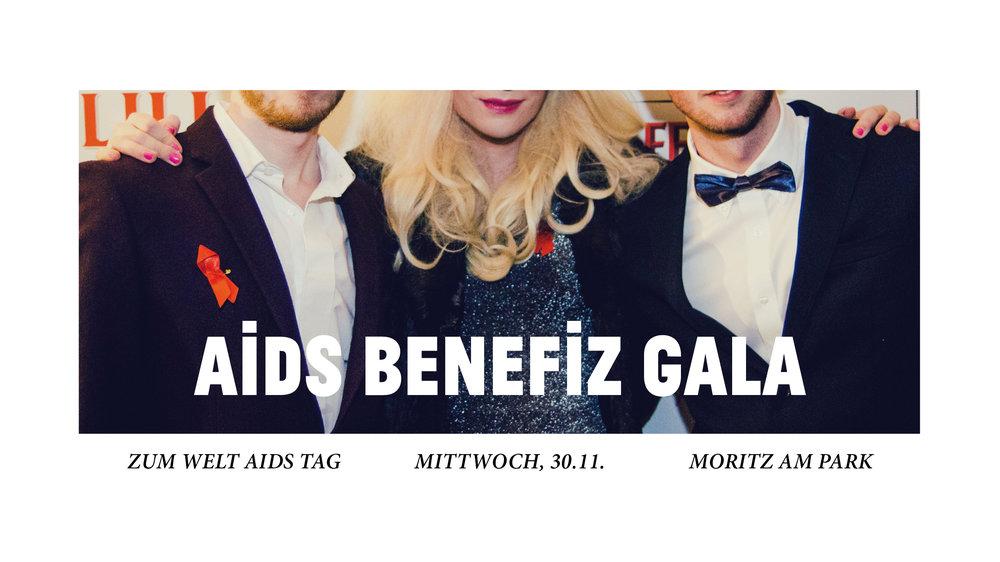 Moritz Bar & Moritz am Park präsentieren   die AIDS BENEFIZ GALA   im Moritz am Park   am 30. November    Es ist wieder WELT AIDS TAG, und wir rollen im Moritz am Park f  ür unsere Benefiz Gala den roten Teppich aus.    Mit Red Carpet Fotografin Lena Meyer,  bester Popmusik powered by Lukas & Kilian, u  nd Gin Tonic 2for1! Wir liefern euch eine Gala-Party, die ihr nicht verpassen solltet.    Schmeißt euch in Anzug und Abendkleid, und trinkt und feiert bei uns für den guten Zweck! Denn den kompletten Erlös des Abends spenden wir von Moritz Bar und Moritz am Park an die Berliner Aidshilfe.    Proudly supported by Absolut und Beefeater Gin London.      FB VERANSTALTUNG