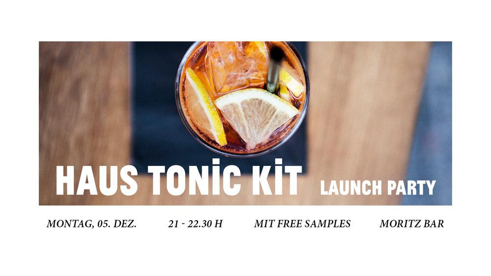 Seit über drei Wochen stellen wir von der Moritz Bar   für euch unser HAUS TONIC Water her. Rein natürlich, mit echter Chinarinde aus Peru, Szechuanpfeffer, frischem Zitronensaft und viel Liebe.    Und seit drei Jahren wurden wir von euch auch immer wieder gefragt: kann man das eigentlich auch für zu Hause kaufen? Jetzt können wir diese Frage endlich mit JA beantworten.    In einer limitierten Sonderedition gibt es unser HAUS TONIC nun auch für euch zum zu Hause zubereiten. Komm zur Launch Party am 5. Dezember bei GAY WEDDING und hol dir dein HAUS TONIC KIT, in dem du alles findest, was du für deinen HAUS TONIC brauchst. Perfekt für dich, oder zum Verschenken!    HAUS TONIC KIT   limited edition, 100 Stück   im braunen Ge  schenk-Karton HAUS TONIC: 100 ml 6 EUR  HAUS TONIC KIT Launch Party 05. Dezember, bei GAY WEDDING in der Moritz Bar hosted by Lukas & Kilian mit FREE SAMPLES vom HAUS TONIC      FB VERANSTALTUNG
