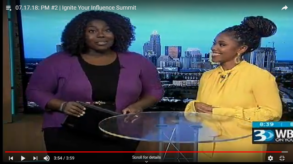 Majesty on WBTV promoting Ignite Your Influence 2018