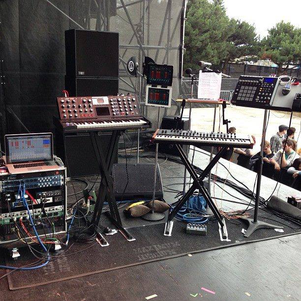 Playback/synth rig Tim O'Sullivan put together, supported and toured with for Maximum Hedrum