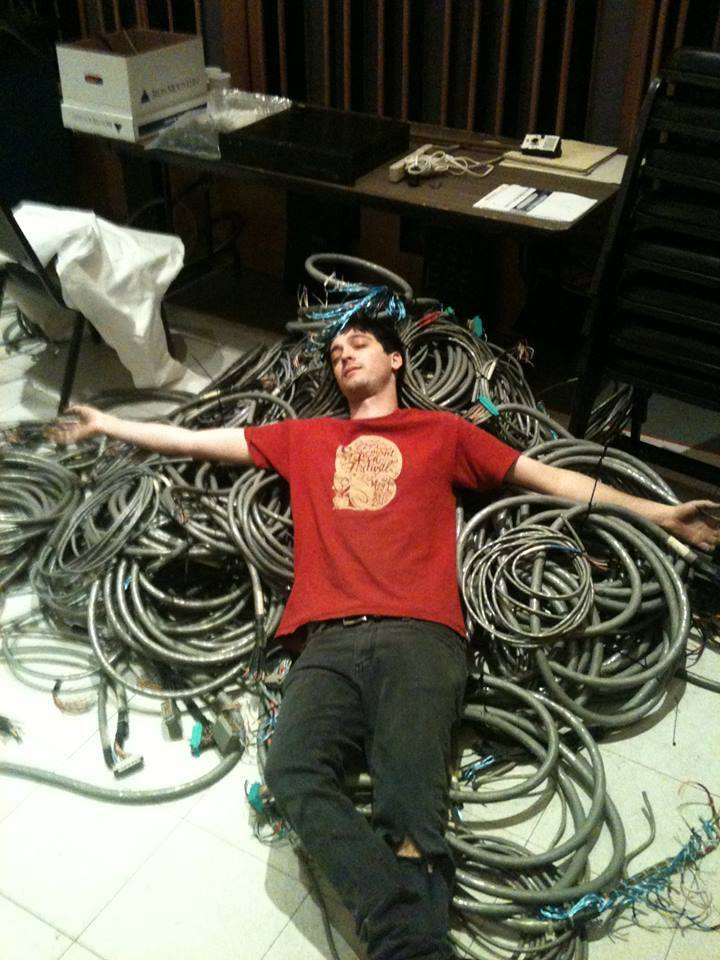 During the Capitol Studio A refurbishment, Tim got pretty tired pulling out all that old Beldin.