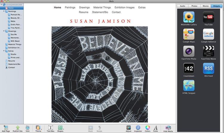 Introducing my freshly revamped website! susanjamison com — Susan