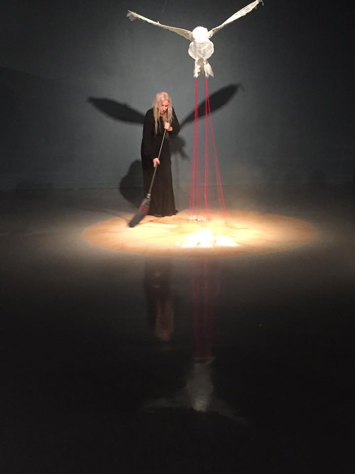 Sweeping Up, a performance for Super Natural at Longwood Center for the Visual Arts, 1/11/2017