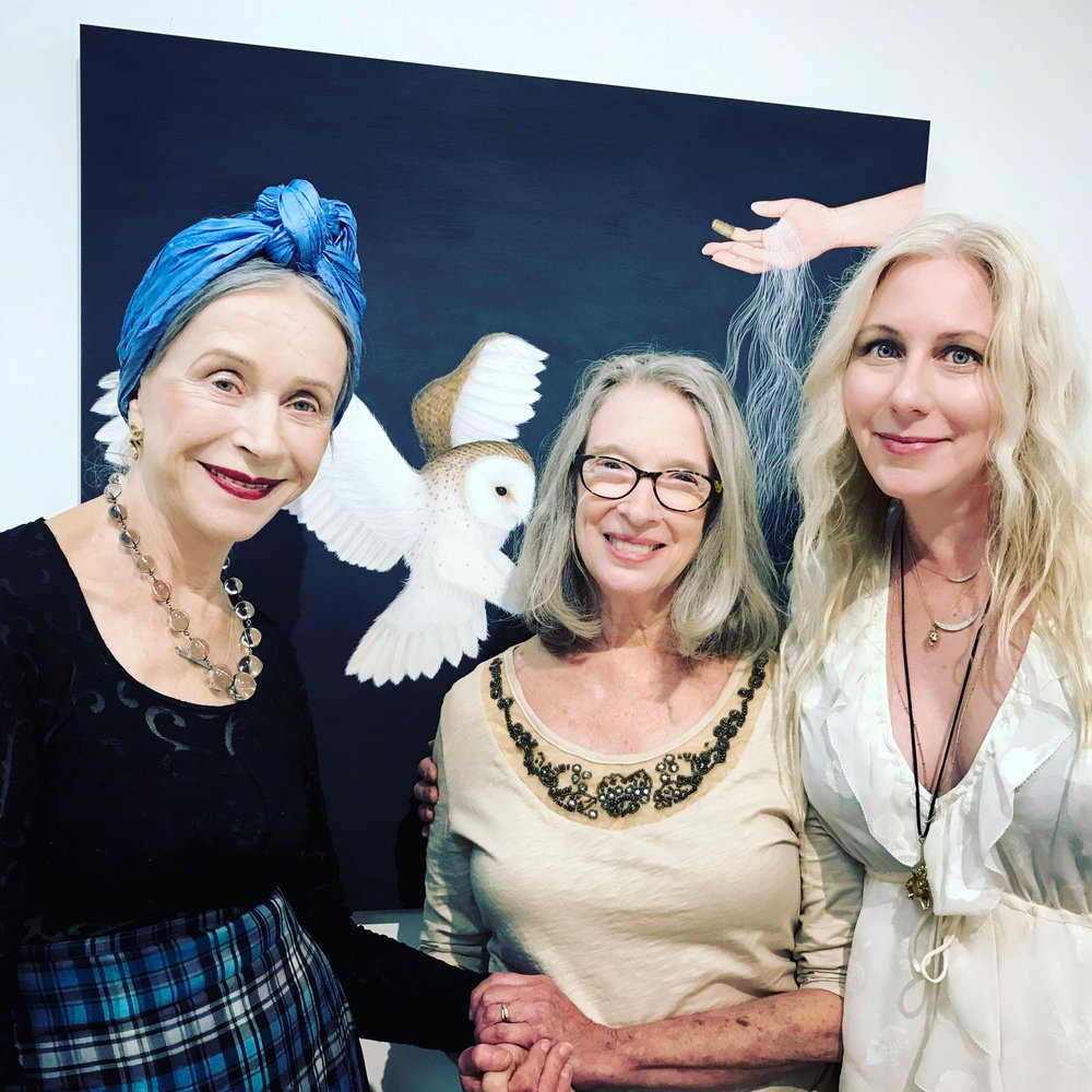 Beatrix Ost, Deborah McLeod owner of Chroma Projects, Susan Jamison.