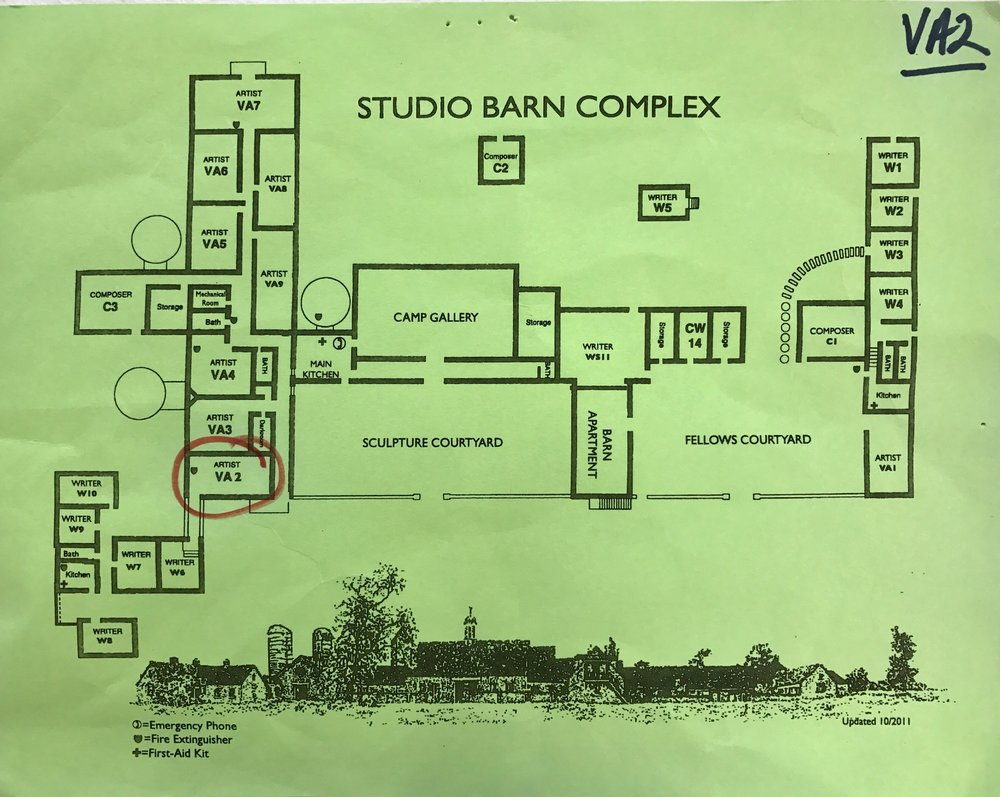 Map of the VCCA Studio Barn Complex.
