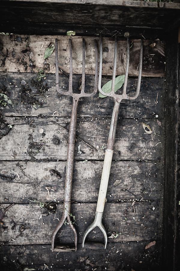 Wabi Sabi Garden Tools, I love the old and weathered