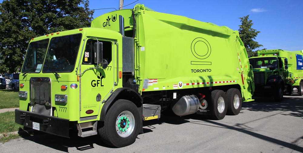 new branding for Green recycling truck. the city of toronto