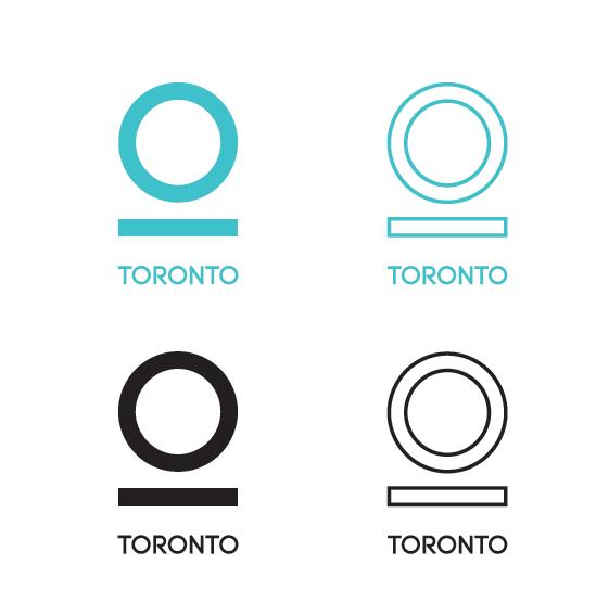 Logo design options for the city of Toronto