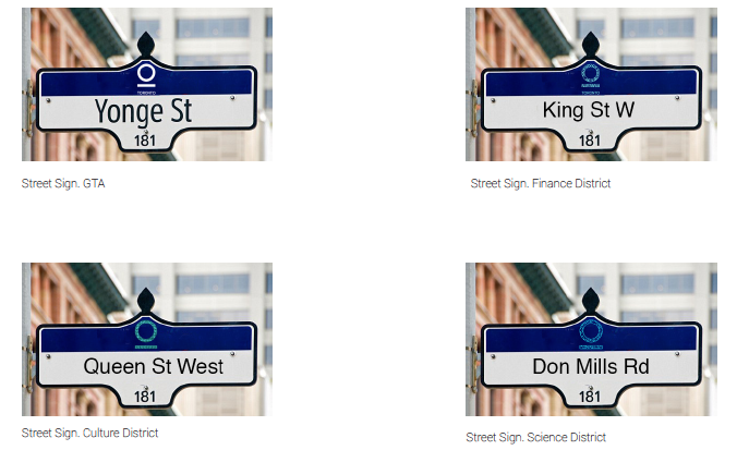 signage system for the city of toronto