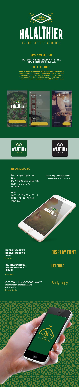 Halalthier. Brand Identity and UX design