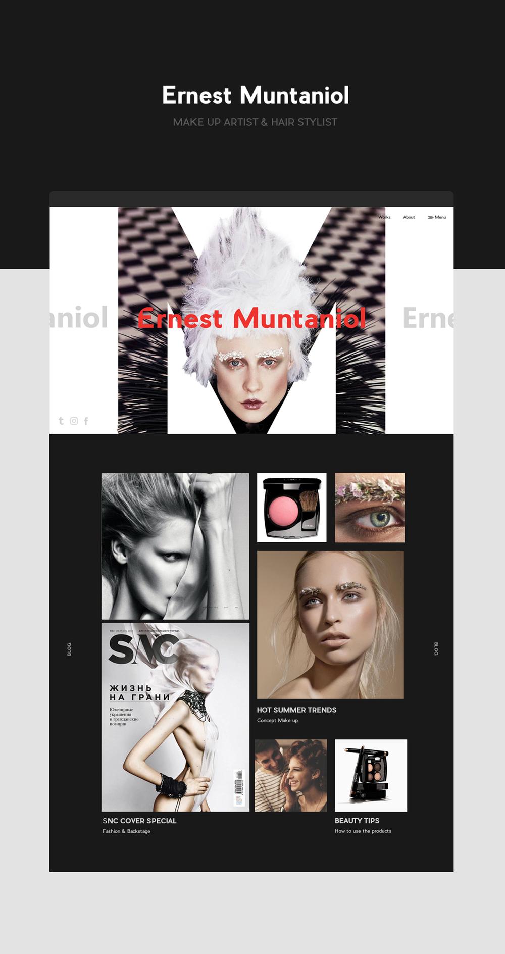 Brand Identity for Make -up artist Ernest Muntaniol