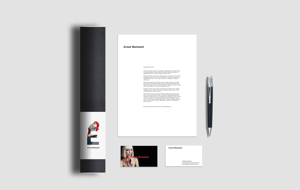 Stationary Design for Ernest Muntaniol Brand