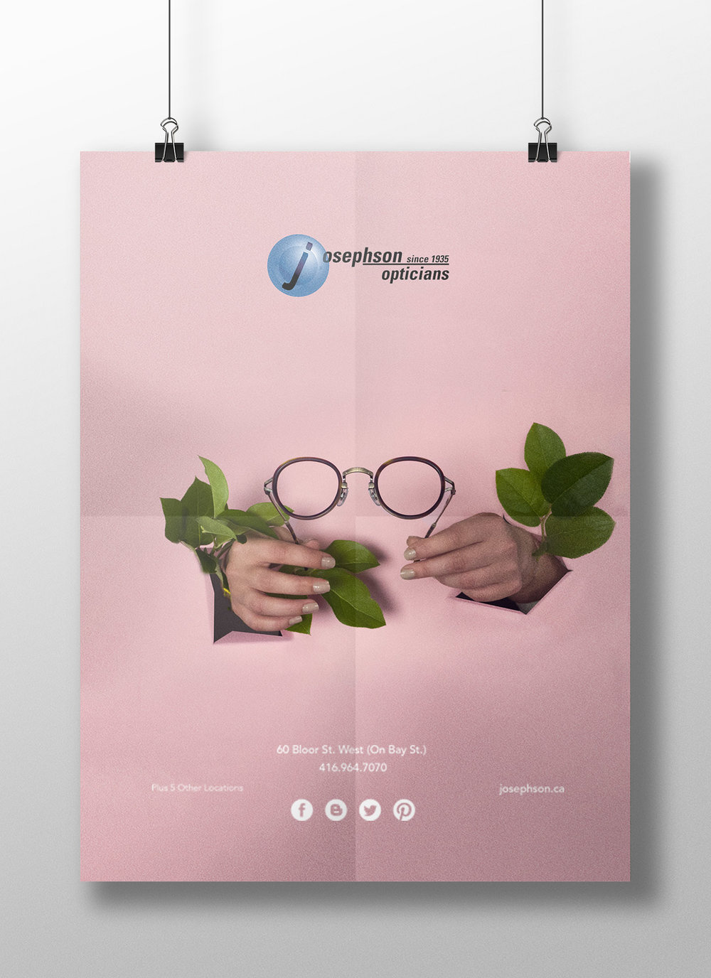 Poster series for Josephson Opticians by Solid White design agency