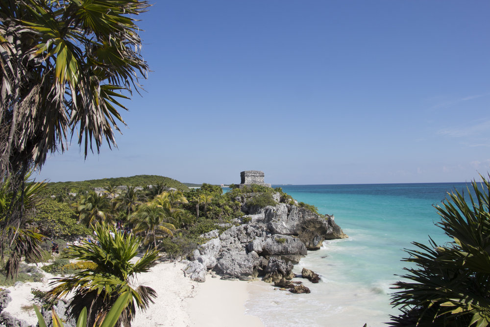 Stunning view on the Mayan ruins.
