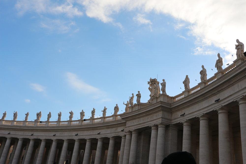 The statues represent 140 saints
