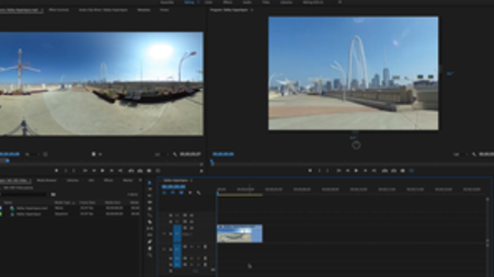 Breaking down the 360 video editing process