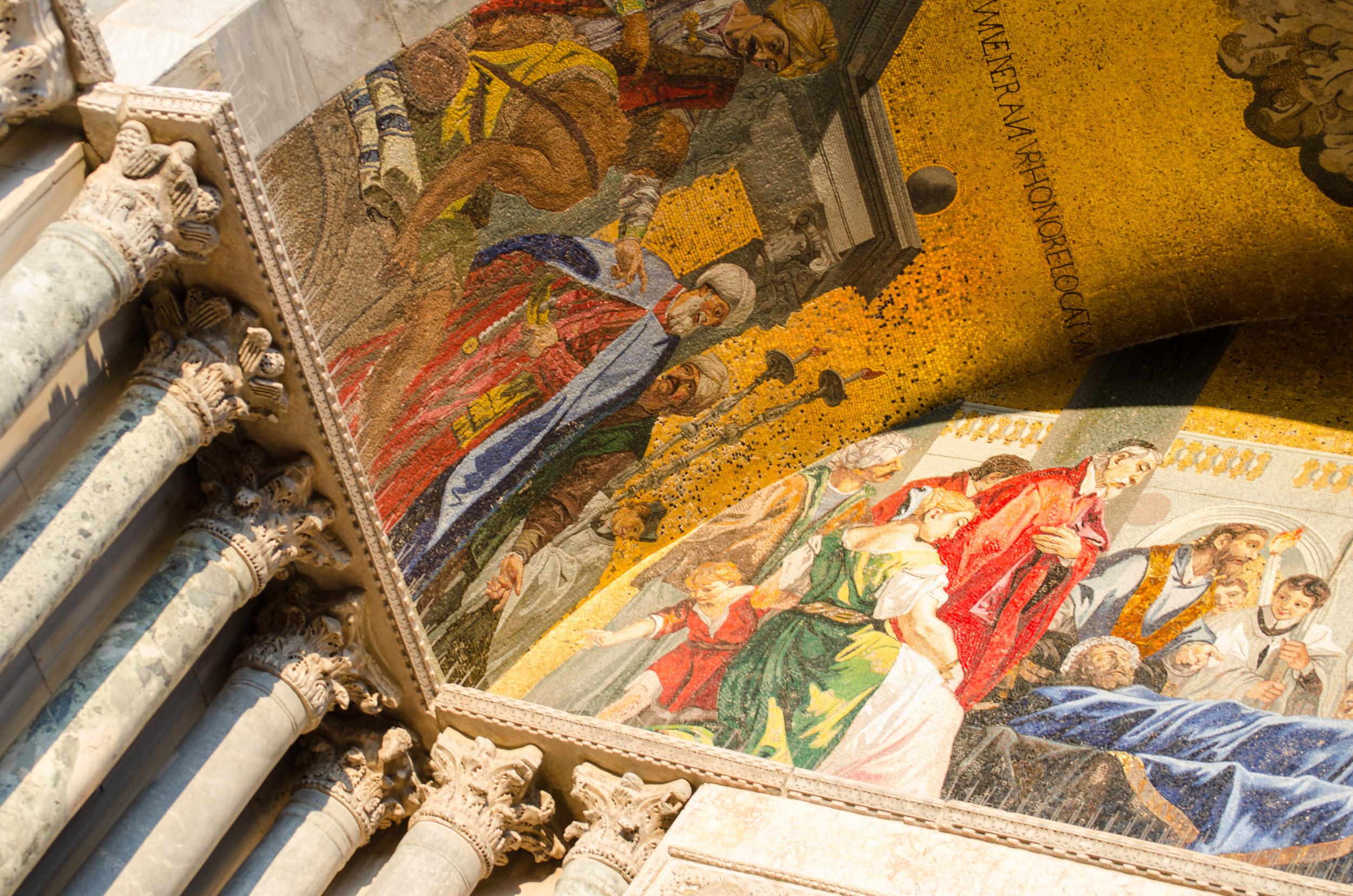 Mosaic on Basilica San Marco