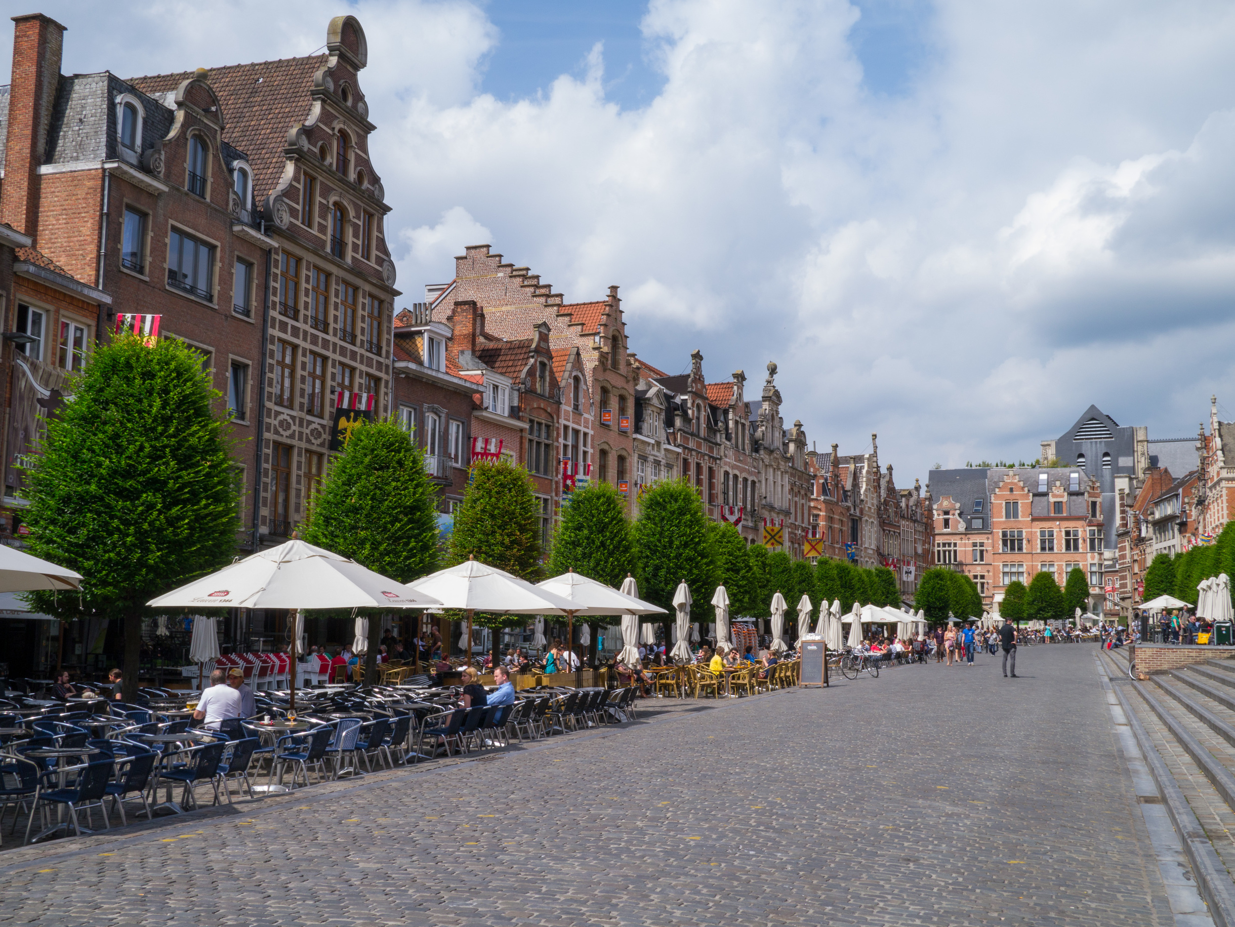 Less than half of Leuven's huge city square