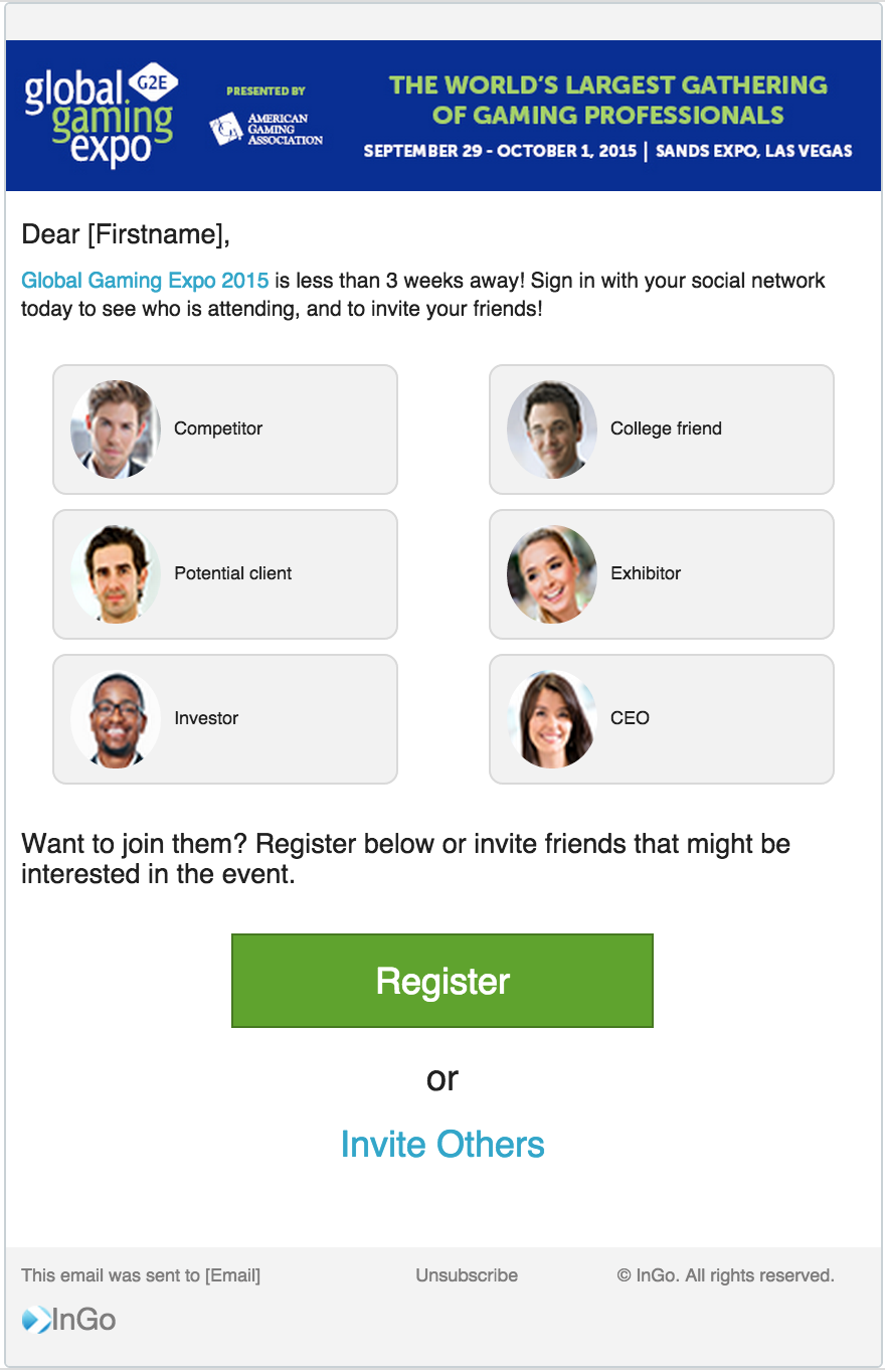 SEE WHO'S GOING EXAMPLE EMAIL with people archetypes.