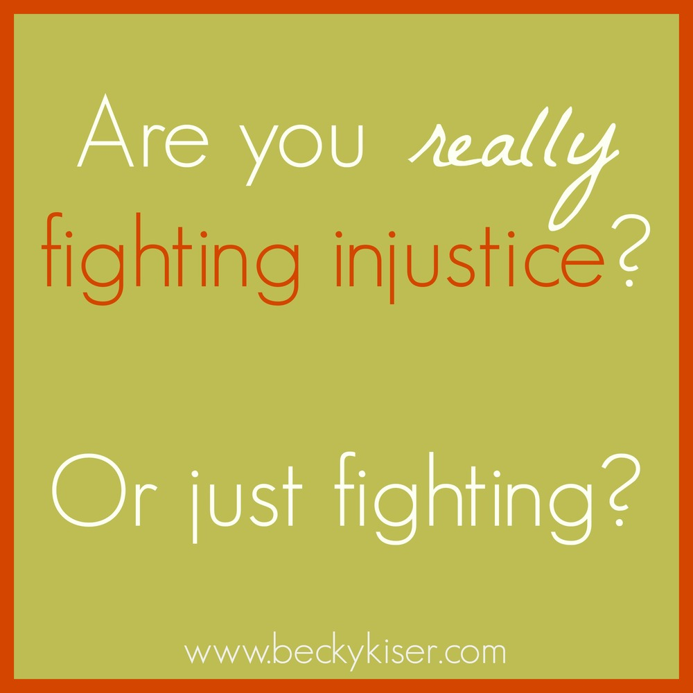fighting injustice