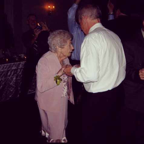 My father and my (late) grandmother dancing at my cousins wedding. If there was ever a person my father got his strength, resilience and sharp whit from, its this tiny lady who was one tremendous woman.
