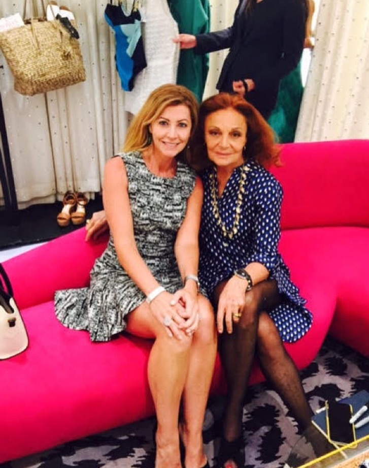Jennifer Gefsky with the incomparable & stunning Diane von Furstenberg.