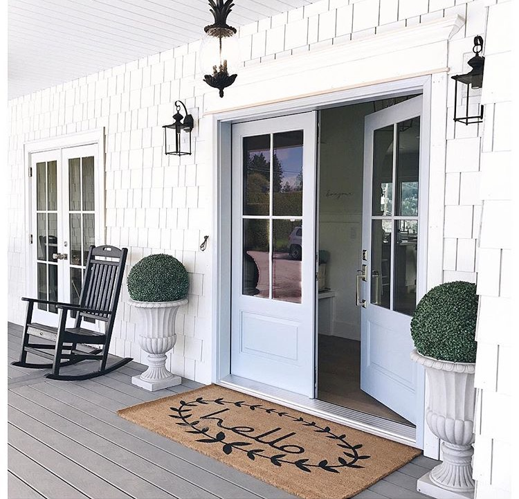 Exterior, front entry of Jillian and Justin's new home! (I may or may not have also bought this door mat).