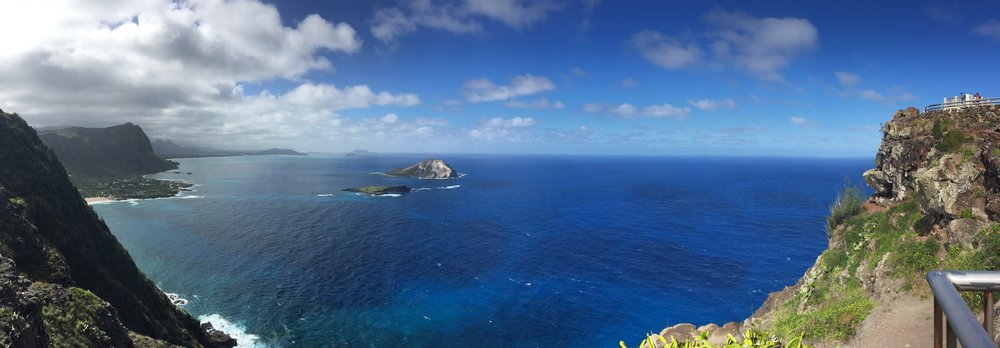 Panoramic at the top of Makapu'u Point