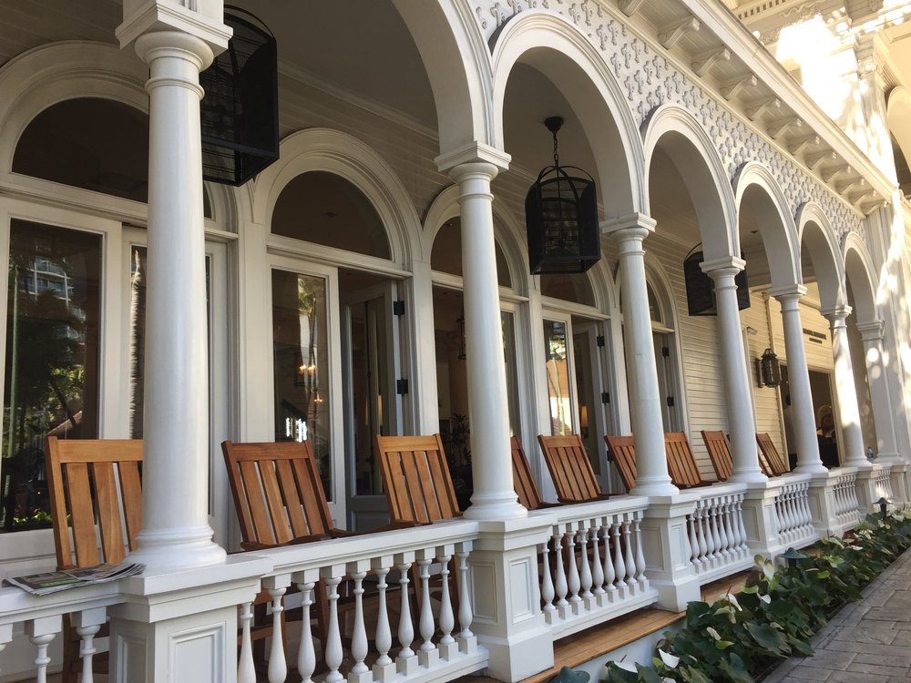 Front porch at the Moana Surfrider