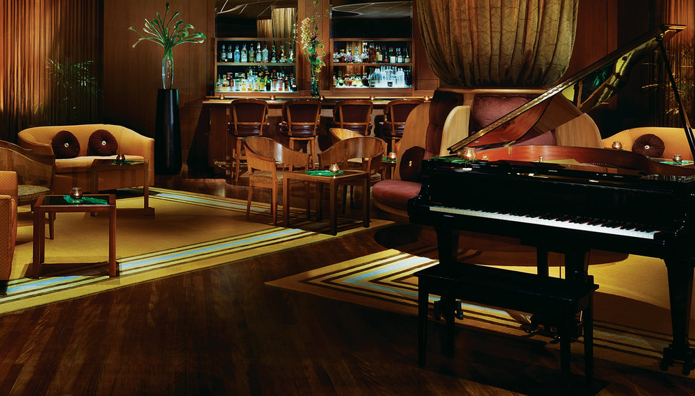The Lewers Lounge in the Halekulani Hotel