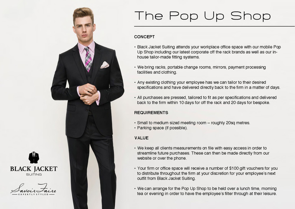 The PopUp - Black Jacket Suiting