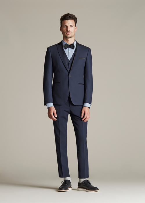 Necktie or bow tie with hired suit — Black Jacket Suiting