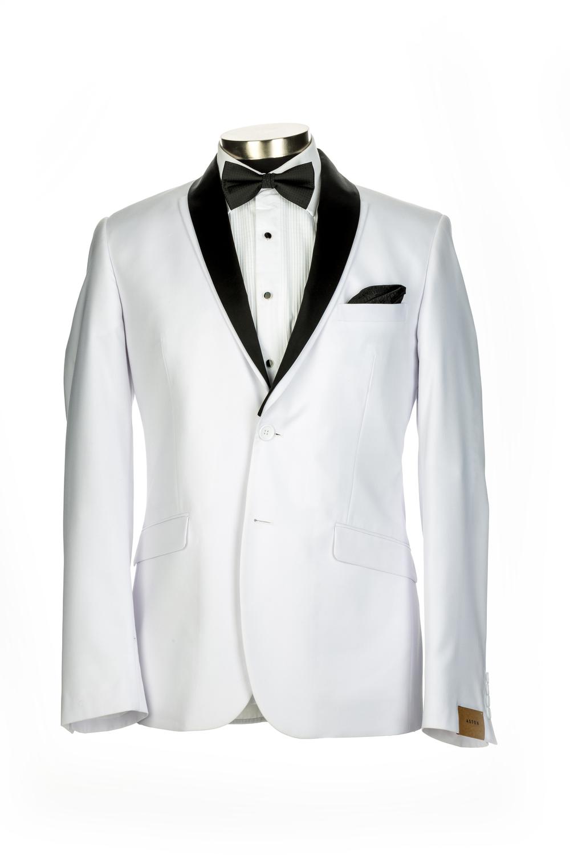 Aston White Tuxedo Jacket