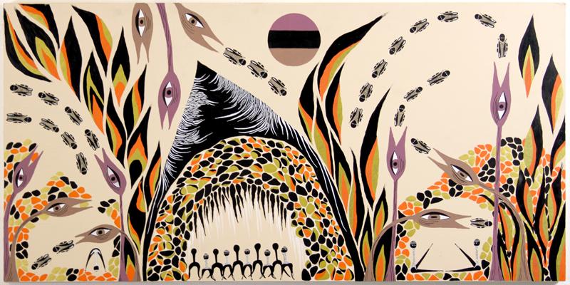 Hibernation, Procreation, Esoteric Initiation  Acrylic / Wood  4 FT x 2 FT