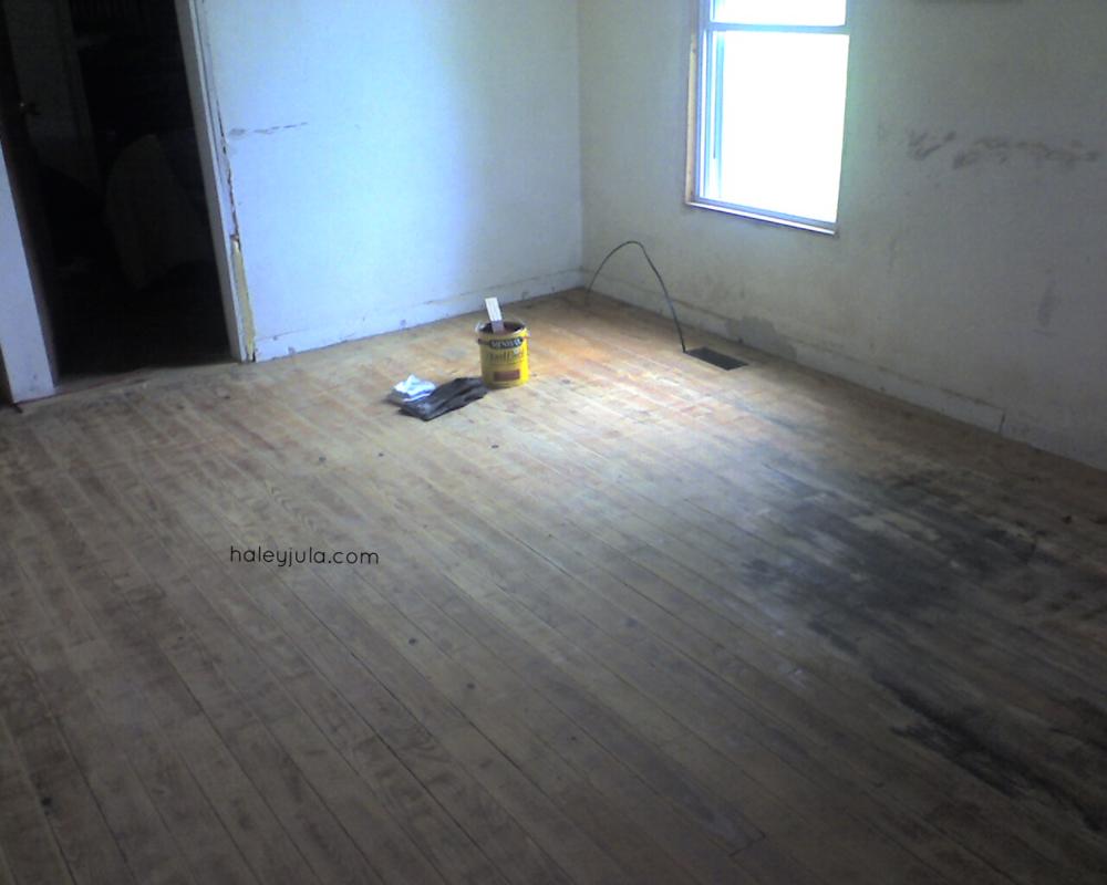 Northeast corner of room Before.