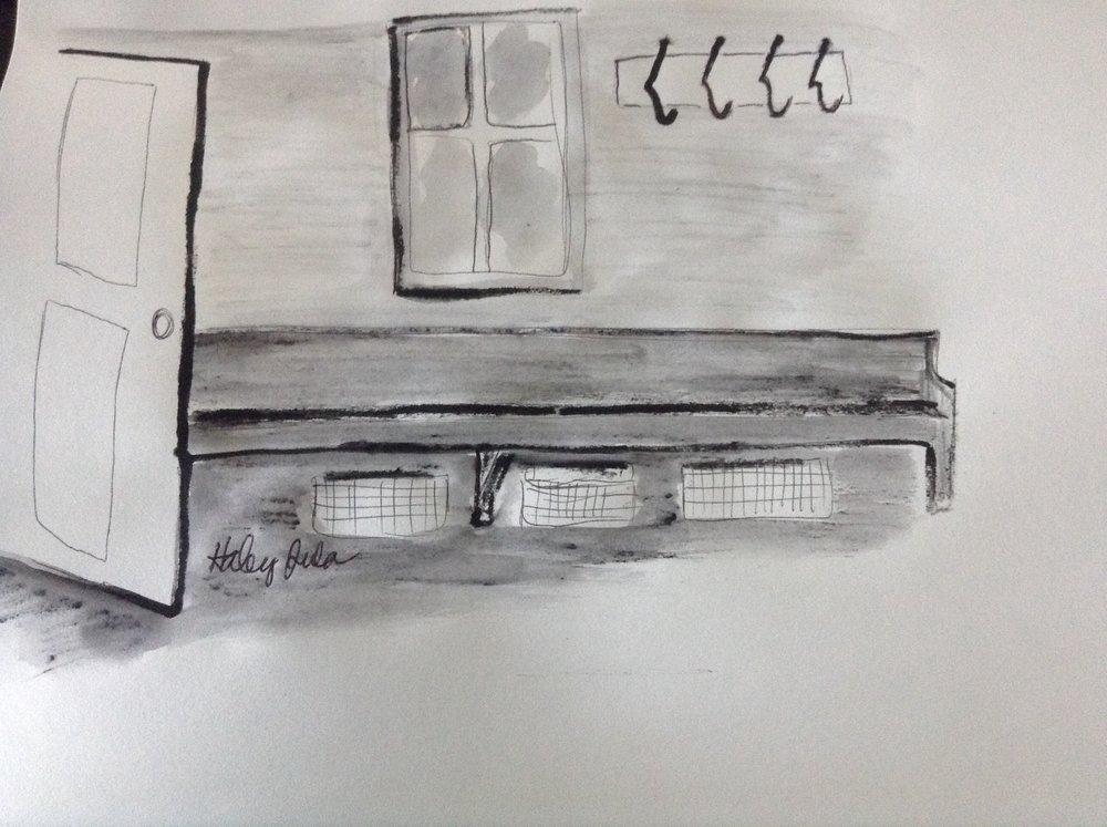 Design sketch for back door entry