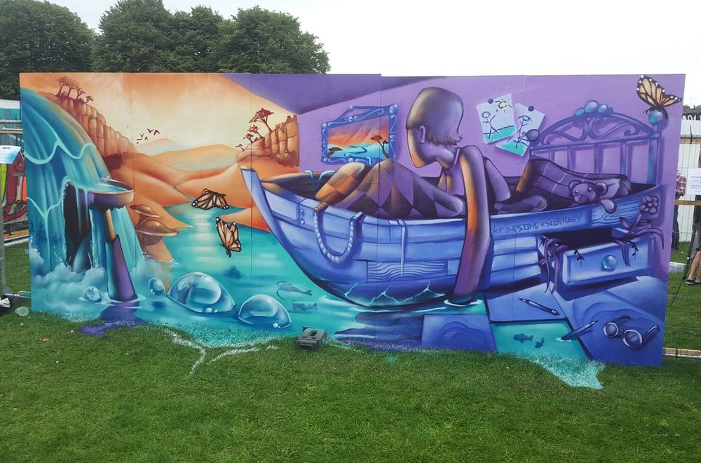 'Dream boat' - Upfest, Bristol