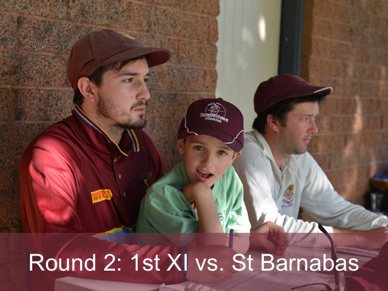 Round 2: 1st XI vs. St Barnabas