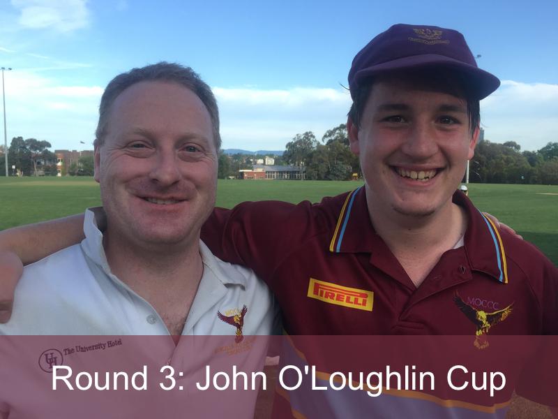 Round 3: John O'Loughlin Cup