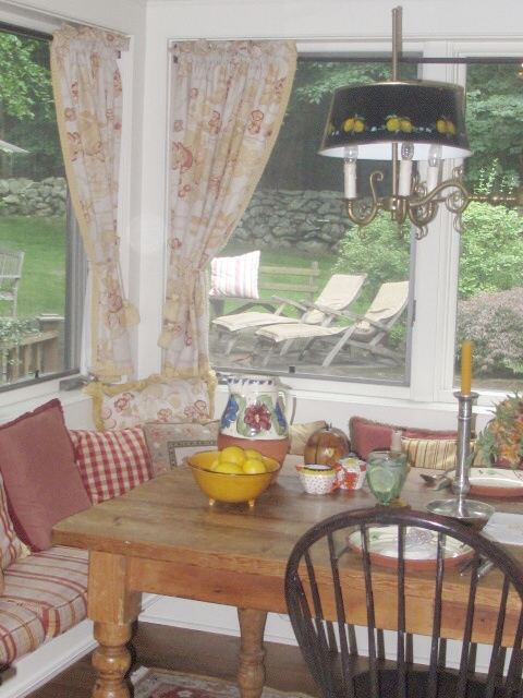 decorating projectweston, connecticut - advising on furnishings, upholstery, pillows, antiques, art and drapery for this four bedroom family home in bucolic, Weston.