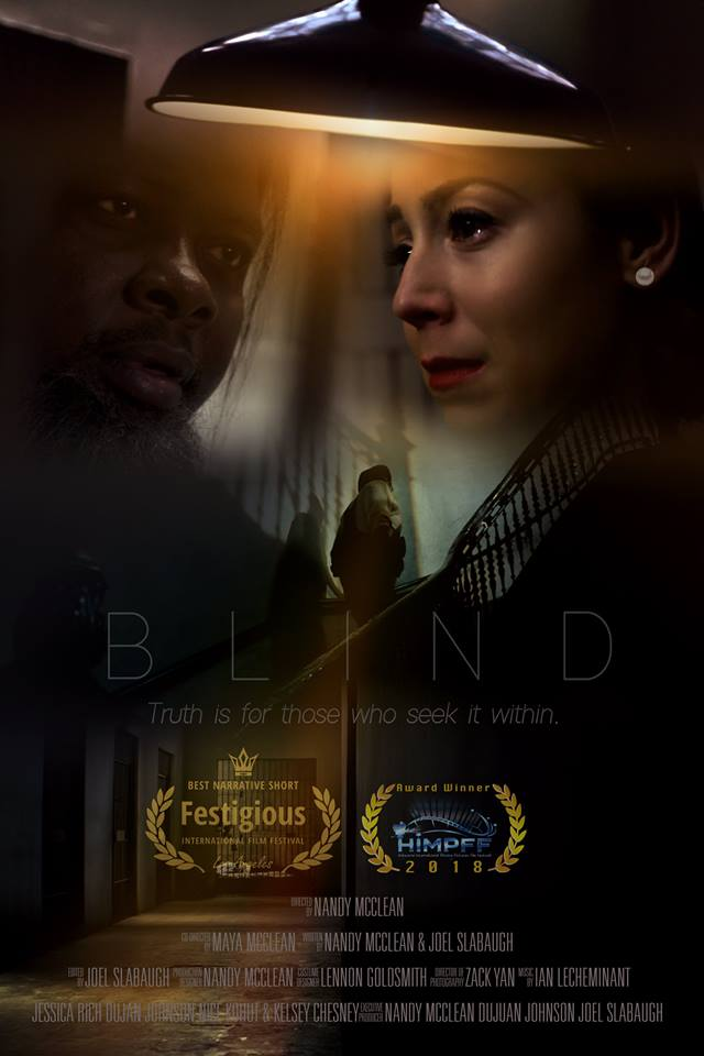 "Our short film BLIND won its 2nd award for ""Best Drama Short"" at the HIMPFF, Hollywood International Moving Pictures Film Festival!"