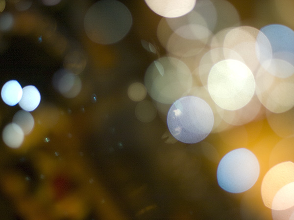 Bokeh from Christmas lights.
