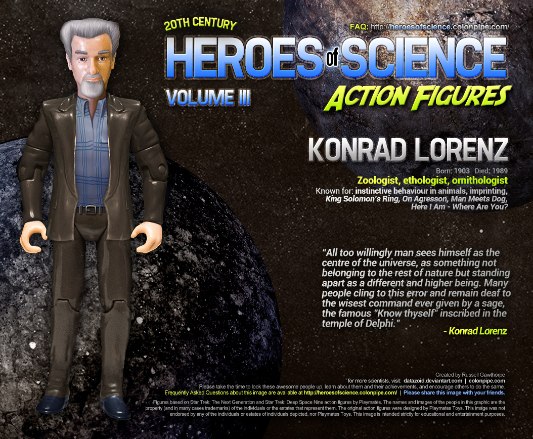 Konrad Lorenz: Geese not included. Click for bigger image.